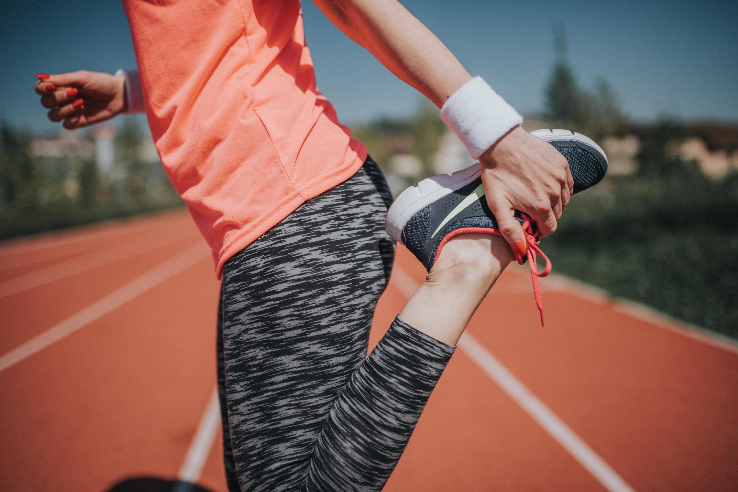 jogging前のstretch